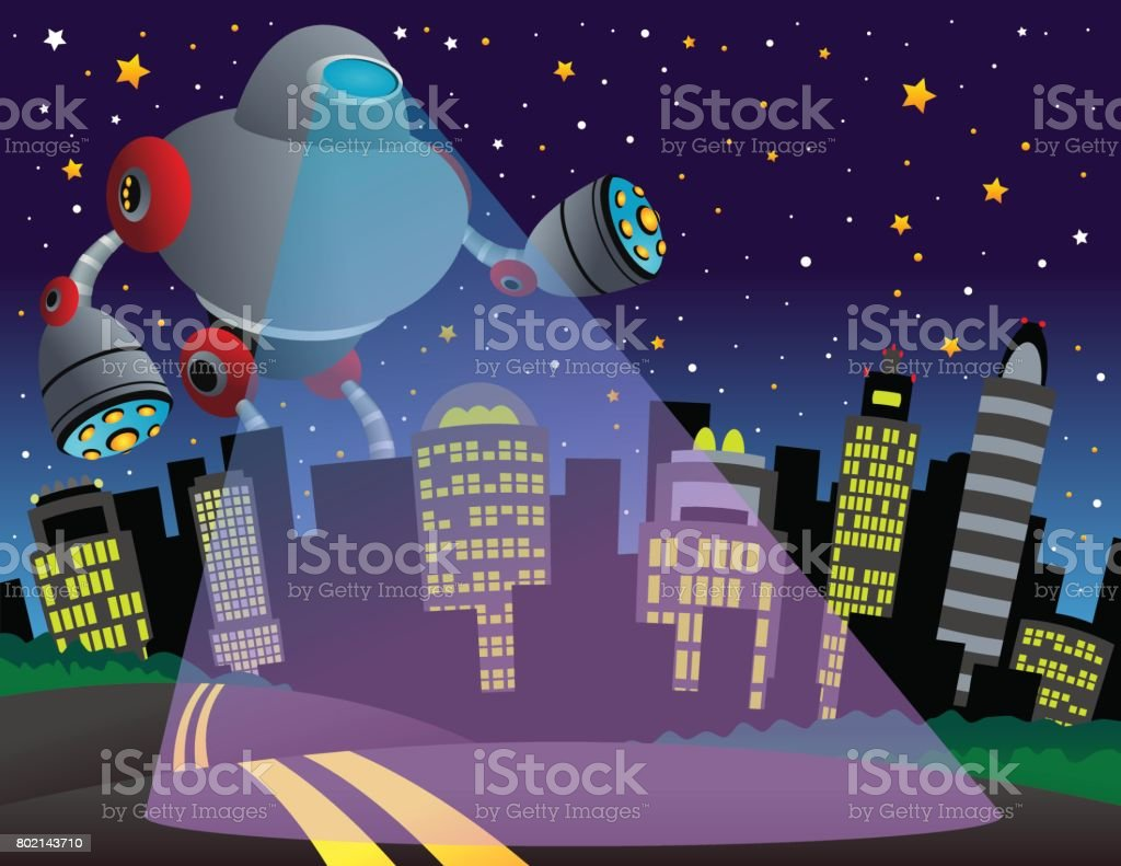 Alien robot city royalty-free alien robot city stock vector art & more images of alien