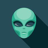 istock Alien Science Fiction Icon 1253552698