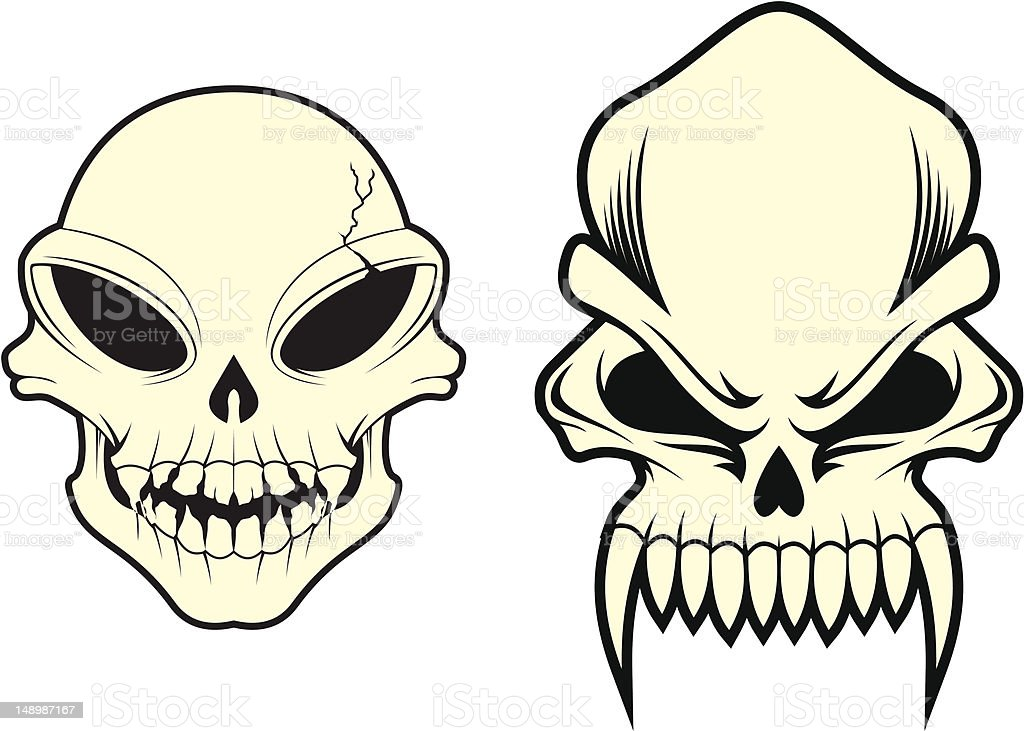 alien skulls stock vector art more images of alien 148987167 istock rh istockphoto com skull artwork vector sugar skull vector art
