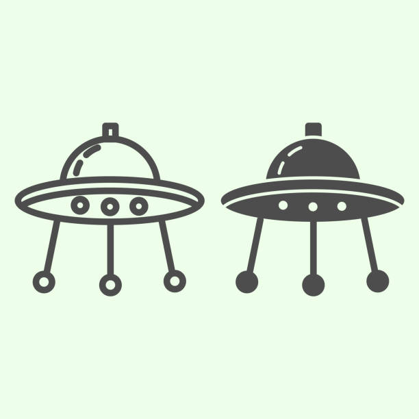 Alien spaceship line and solid icon. Spacecraft or ufo ship plate outline style pictogram on white background. Space and astronomy signs for mobile concept and web design. Vector graphics. Alien spaceship line and solid icon. Spacecraft or ufo ship plate outline style pictogram on white background. Space and astronomy signs for mobile concept and web design. Vector graphics ancient civilization stock illustrations