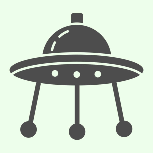Alien spaceship solid icon. Spacecraft or ufo ship plate glyph style pictogram on white background. Space and astronomy signs for mobile concept and web design. Vector graphics. Alien spaceship solid icon. Spacecraft or ufo ship plate glyph style pictogram on white background. Space and astronomy signs for mobile concept and web design. Vector graphics ancient civilization stock illustrations