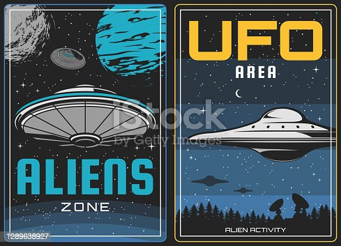 istock UFO aliens and outer space, universe planets 1289638927