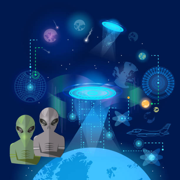 Vectores de Abduction Ufo y Illustraciones Libre de Derechos - iStock 958d76b5ab7
