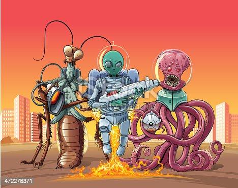 istock Aliens invaders. 472278371