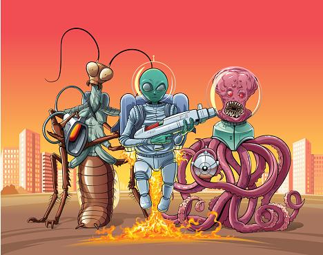 Aliens invaders.