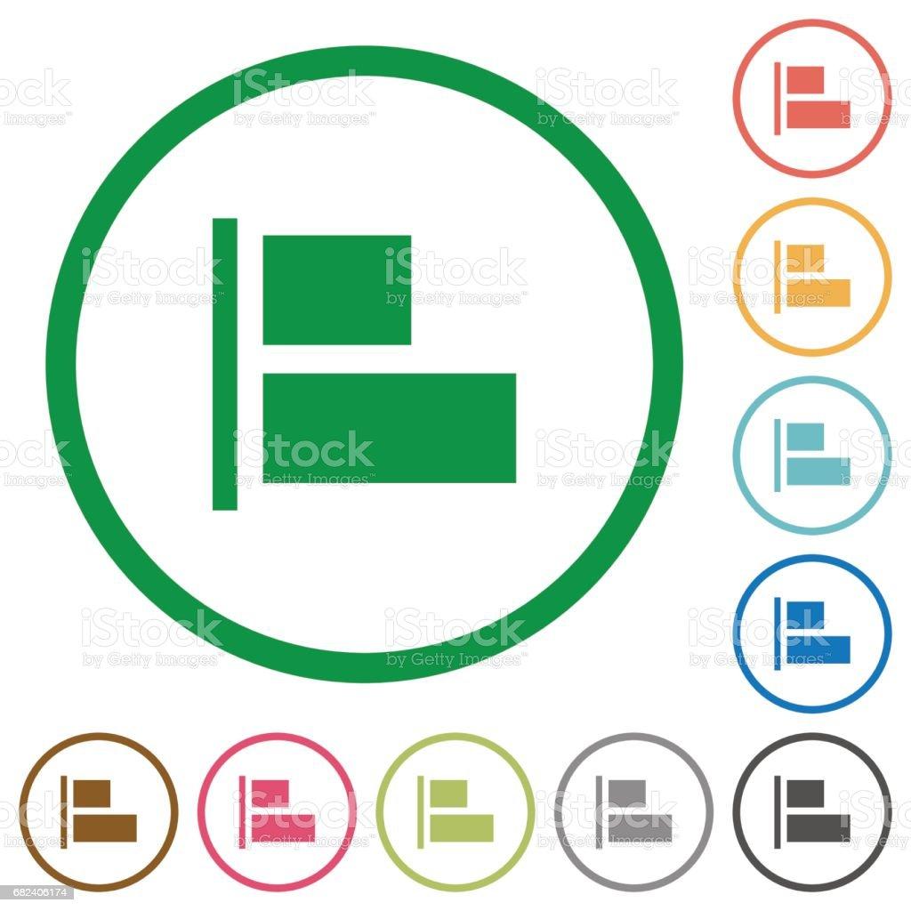 Align to left flat icons with outlines align to left flat icons with outlines – cliparts vectoriels et plus d'images de blanc libre de droits