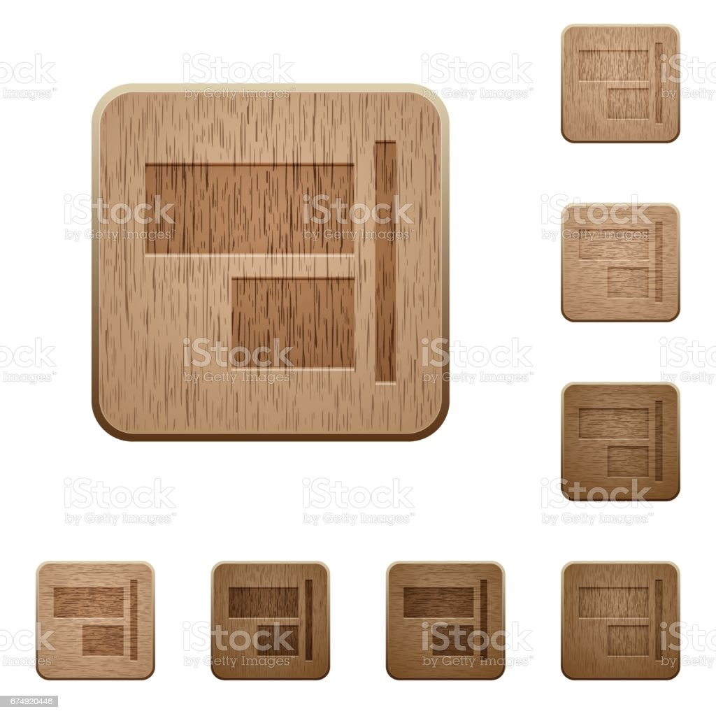 Align to right wooden buttons royalty-free align to right wooden buttons stock vector art & more images of applying