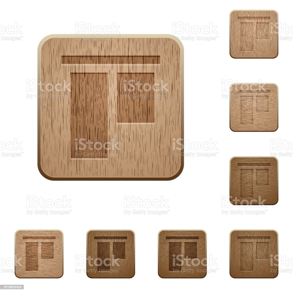Align to top wooden buttons royalty-free align to top wooden buttons stock vector art & more images of above