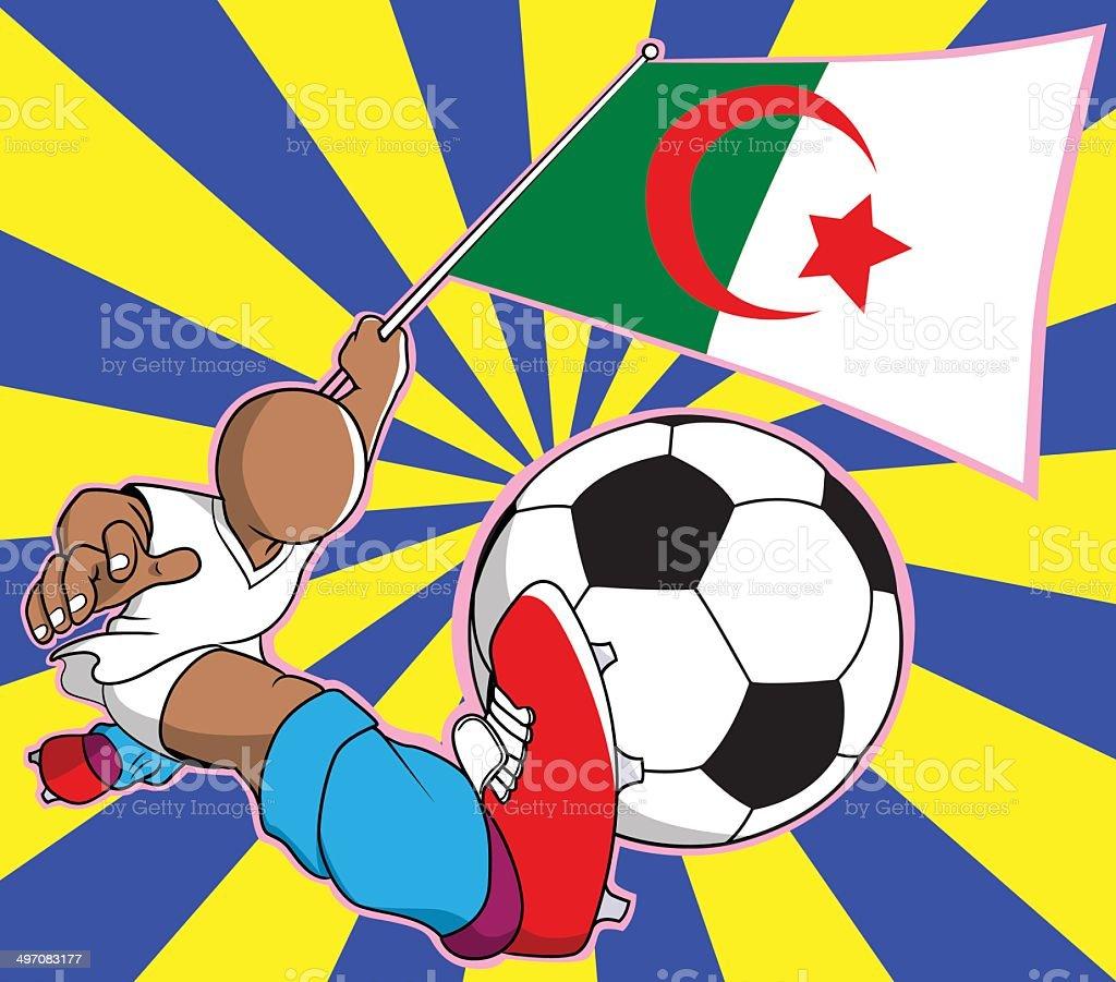 Aljazair  soccer player vector cartoon royalty-free stock vector art