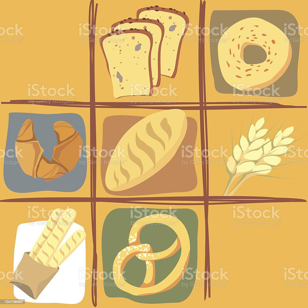 All about bread royalty-free stock vector art