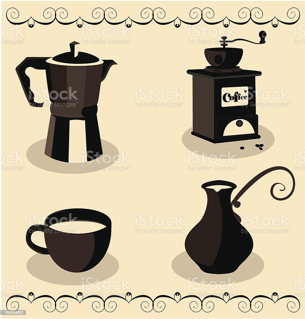 All about coffee royalty-free stock vector art