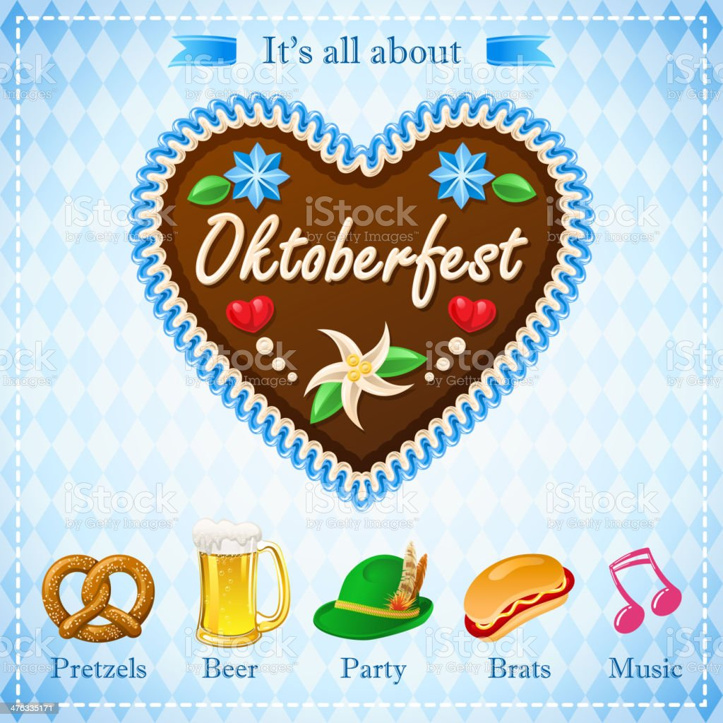 All About Oktoberfest vector art illustration