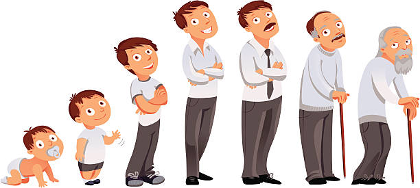 all age categories - old man smile cartoon stock illustrations, clip art, cartoons, & icons