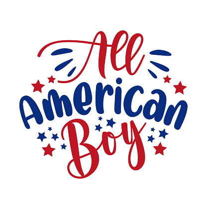 All american boy - Happy Independence Day, design illustration.