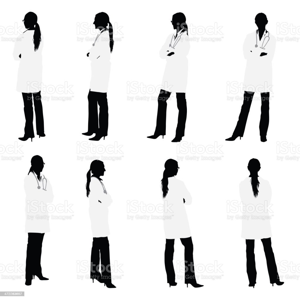 All around views of female doctor