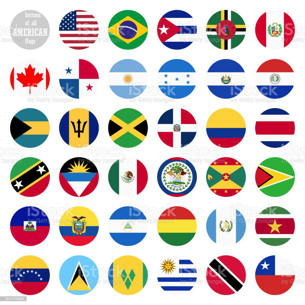 all country flags of america stock vector art more images of