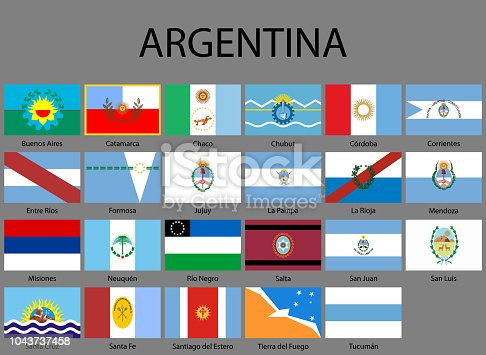 istock all Flags of provinces of Argentina 1043737458