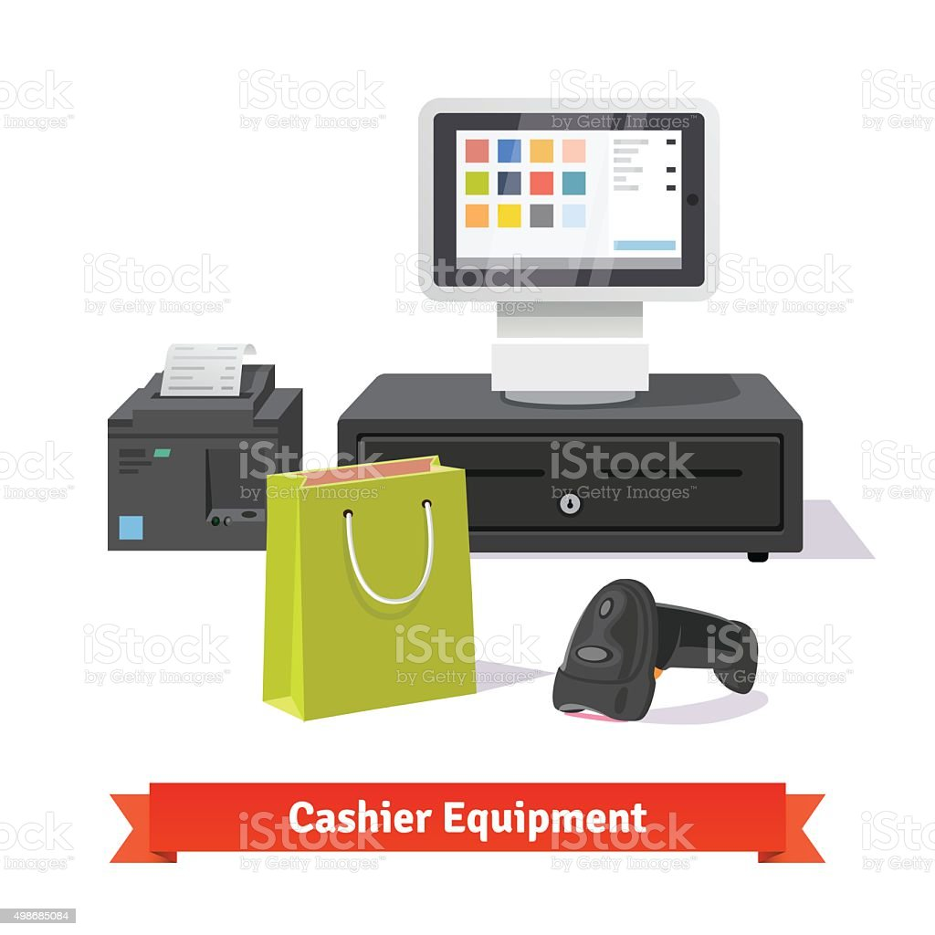 Alle Zahlungen für kleine Einkäufe business - Lizenzfrei Addierrolle Vektorgrafik