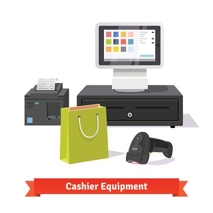 Alle Zahlungen Für Kleine Einkäufe Business Stock Vektor Art und mehr Bilder von Addierrolle