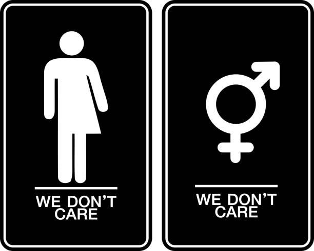All gender restroom sign All gender restroom sign. Male, female transgender nu stock illustrations
