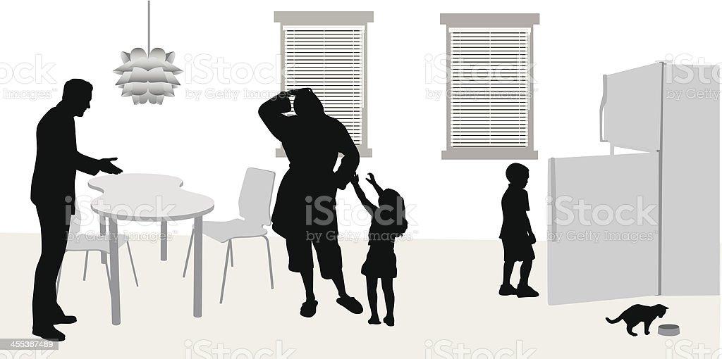 All Hands Vector Silhouette vector art illustration