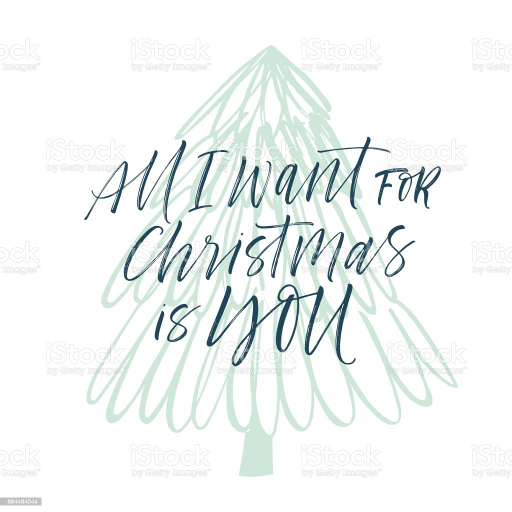 All I Want For Christmas Is You Card Stock Vector Art & More Images ...