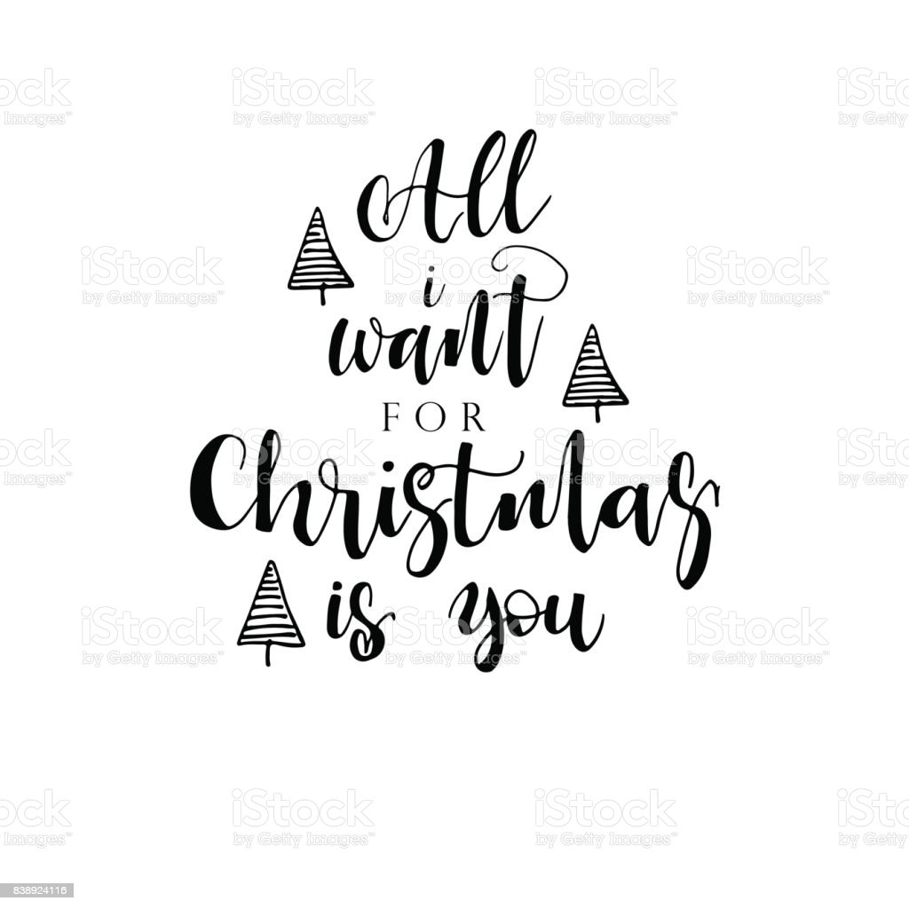 All I Want For Christmas Is You Stock Vector Art & More Images of ...