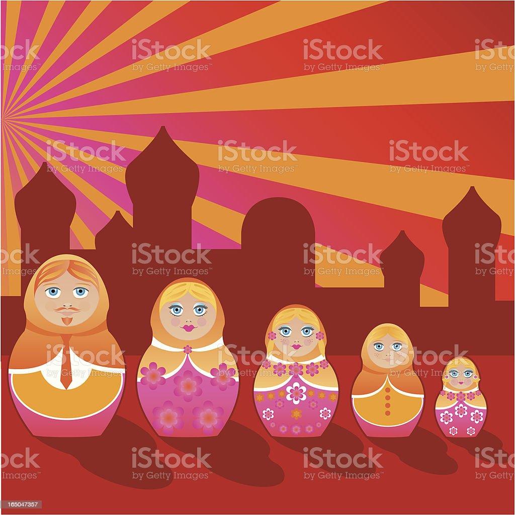 All in One - Matrioska Family royalty-free all in one matrioska family stock vector art & more images of babushka