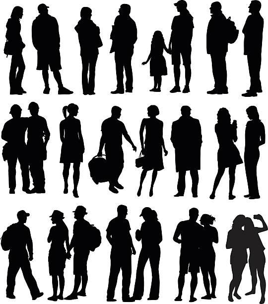 모든 종류의 직원관리 실루엣 - 사진 촬영 이미지 캡처 stock illustrations