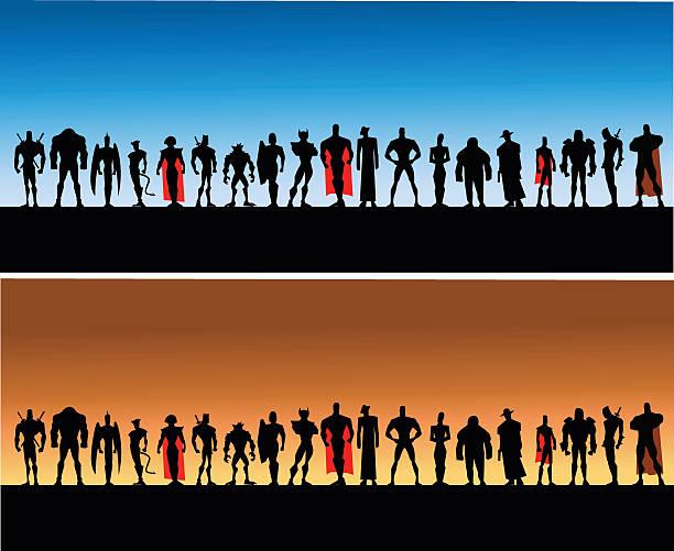 all male league of superheroes - 漫画のモンスター点のイラスト素材/クリップアート素材/マンガ素材/アイコン素材