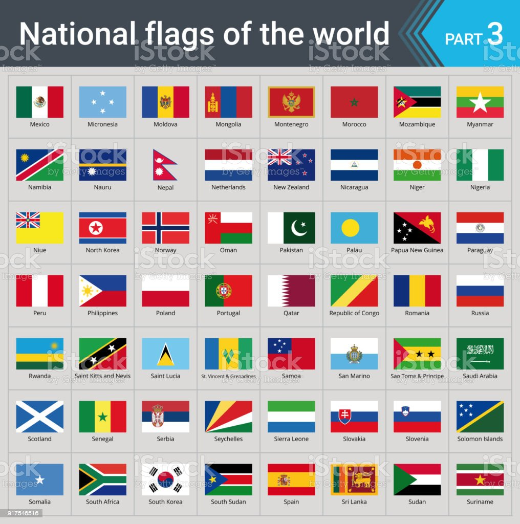 All national flags of the world with names high quality vector flag all national flags of the world with names high quality vector flag isolated on gray gumiabroncs Choice Image