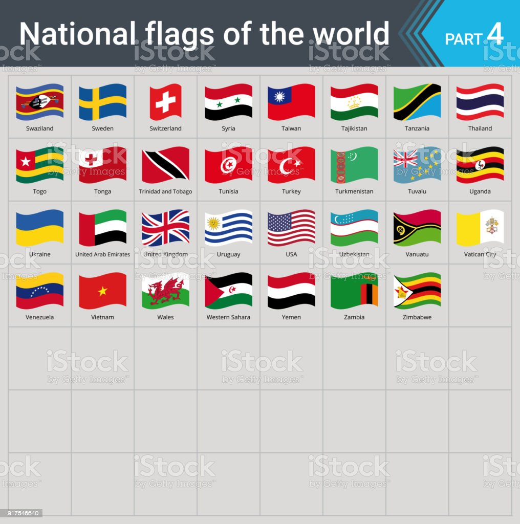 All national world waving flags with names high quality vector flag all national world waving flags with names high quality vector flag isolated on gray background gumiabroncs Choice Image