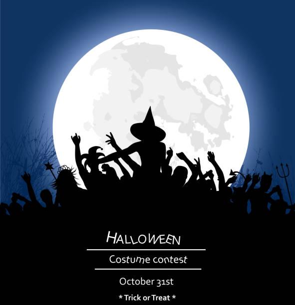 stockillustraties, clipart, cartoons en iconen met alle night halloween party - kostuum