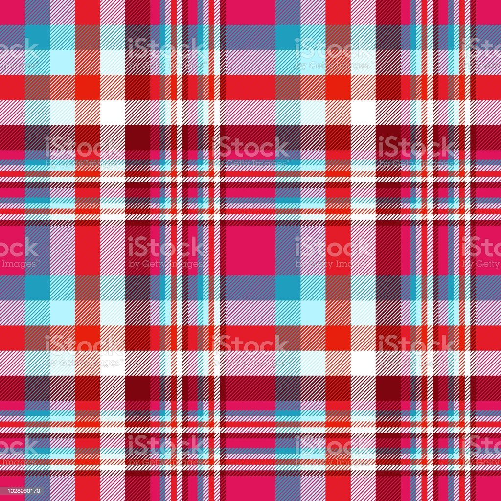 1d3d25243095 All Over Madras Plaid Pattern In Red Blue Fuchsia Pink Burgundy And ...
