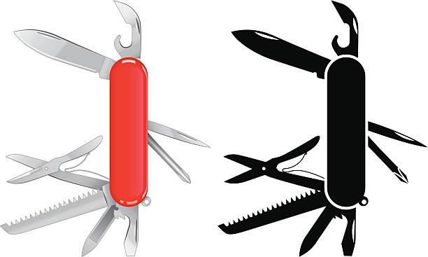 All purpose knife vector art illustration