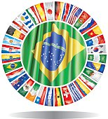 All qualified soccer teams championship Brazil 2014