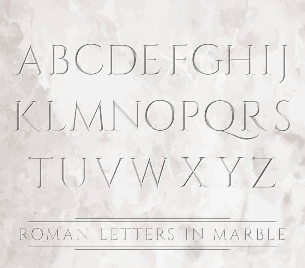 3647 All Roman Letters Vector Art Illustration