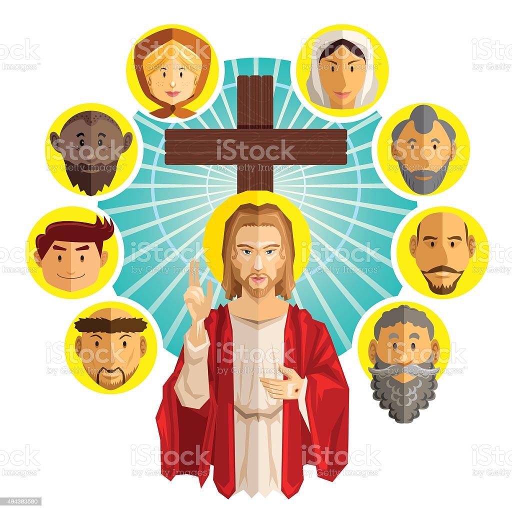 All Saints Day Illustration vector art illustration