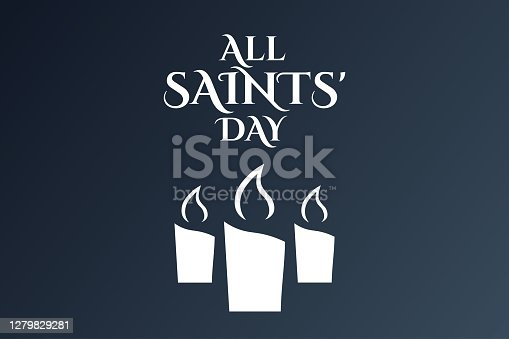 All Saints Day. November 1. Holiday concept. Template for background, banner, card, poster with text inscription. Vector EPS10 illustration