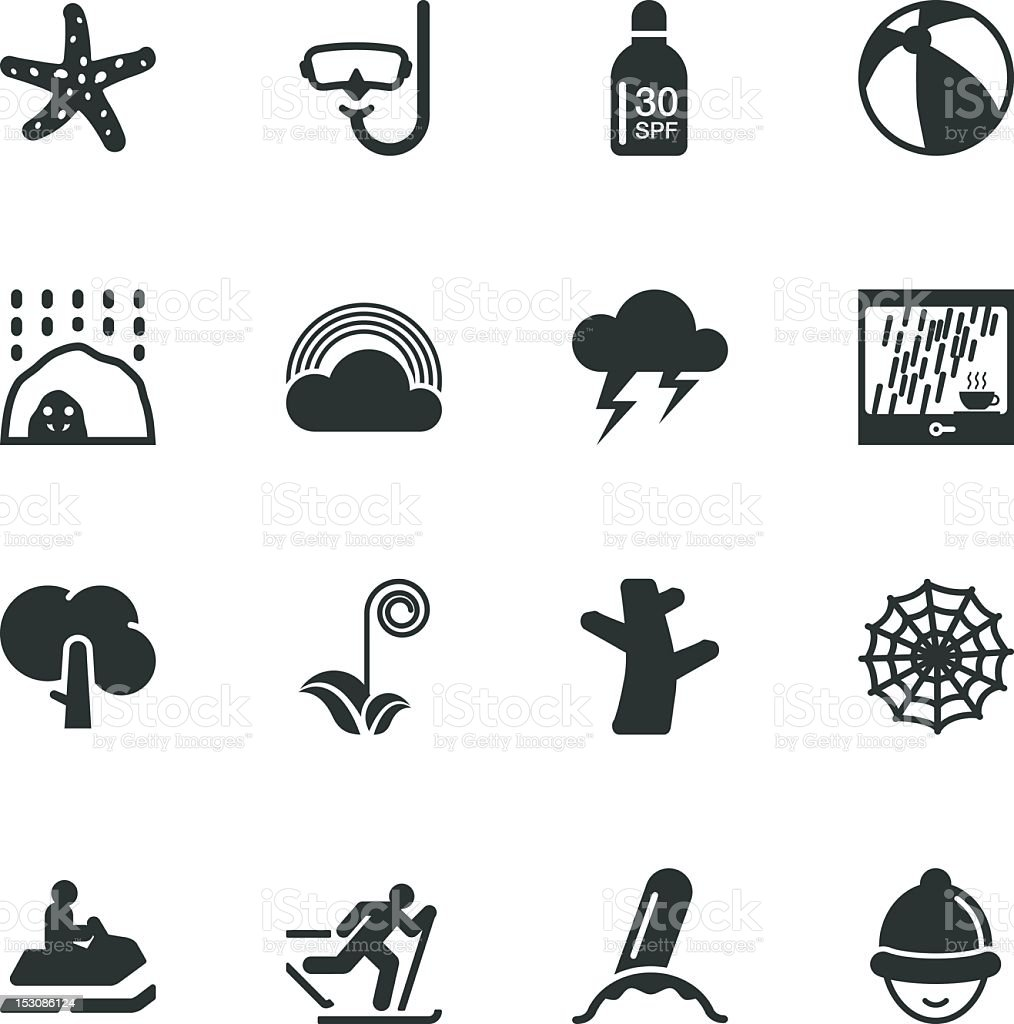 All Season Silhouette Icons | Set 3 royalty-free stock vector art