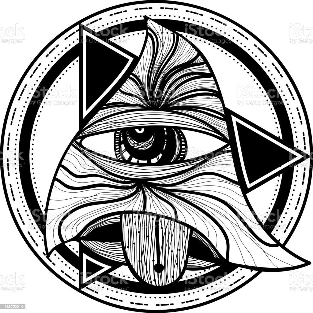 All Seeing Eye Eye Of Providence Mystic Symbol Stock