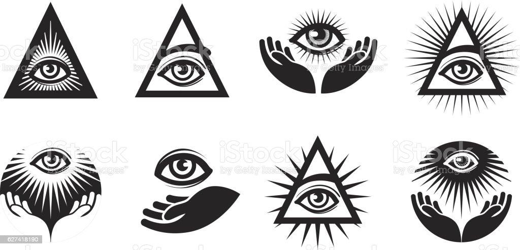 Vectores De Tatuaje Illuminati E Ilustraciones Libres De Derechos
