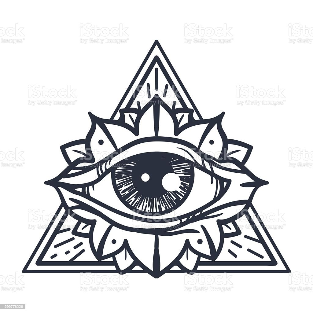 All Seeing Eye In Triangle Stock Vector Art & More Images