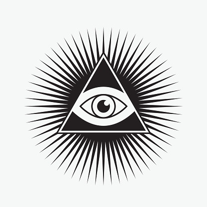 All seeing eye symbol, star shape