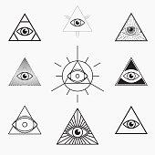 All seeing eye symbol