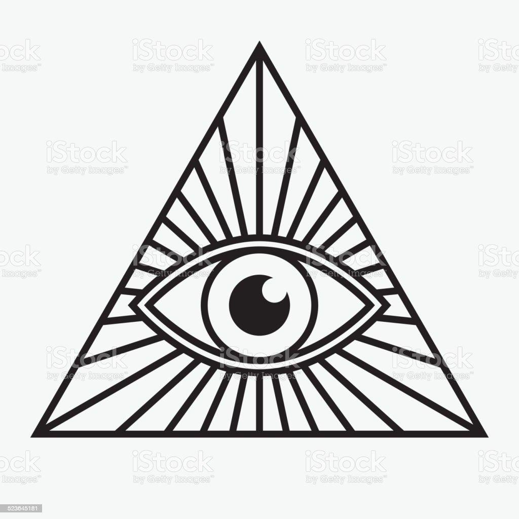 All Seeing Eye Symbol Royalty Free Stock Vector Art Amp