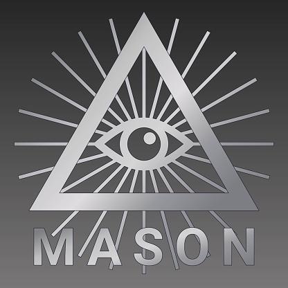 すべての目を見てフリーメーソンのシンボルは三角形の中の神の目です - アイコンのベクターアート素材や画像を多数ご用意