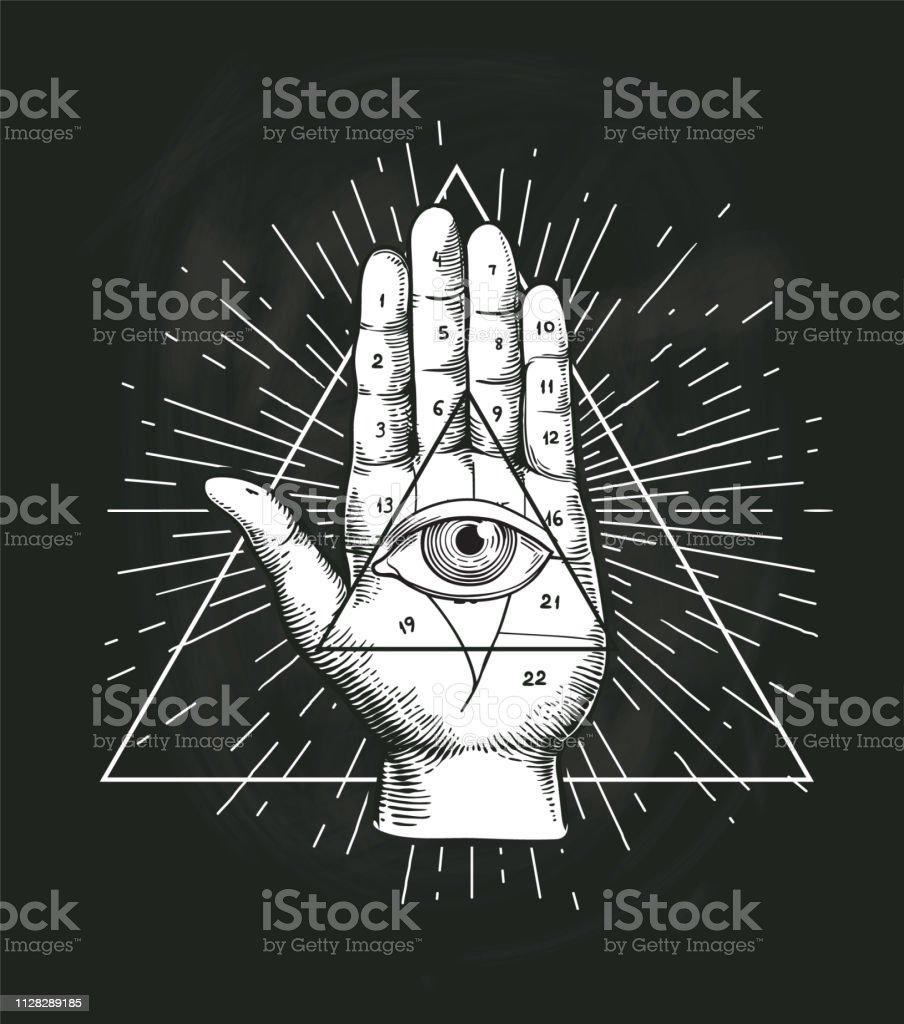 Ilustracion De Todos Ver Ojo Triangulo Vector Geometrico Diseno