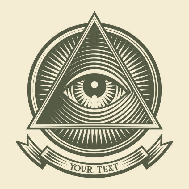 all seeing eye - третье око stock illustrations