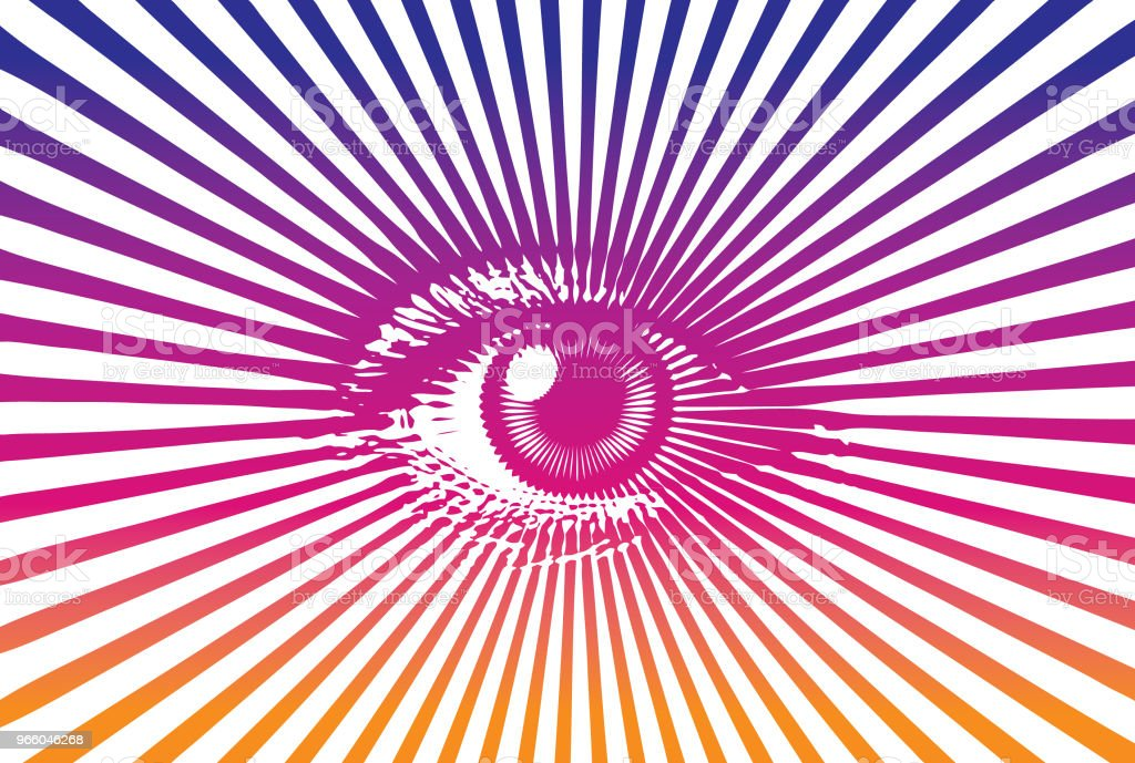 All seeing eye - Royalty-free Close-up stock vector